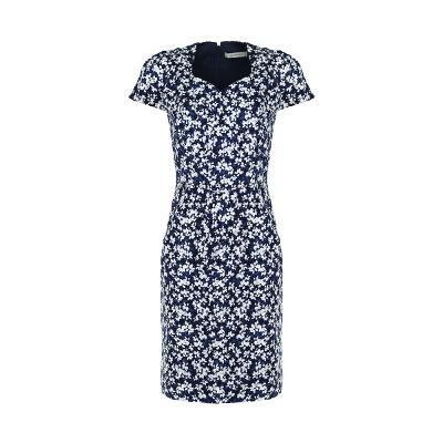 sweet heart neck line dress